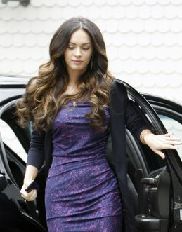 Megan Fox in Purple Dress at Hotel in Santa Monica - 05