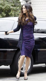 Megan Fox in Purple Dress at Hotel in Santa Monica - 06