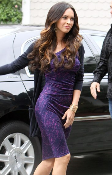 Megan Fox in Purple Dress at Hotel in Santa Monica - 08