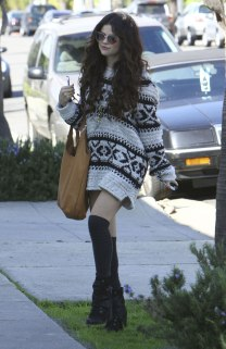 SELENA GOMEZ at a Gas Station
