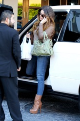 Khloe Kardashian arrives at the SLS Hotel in West Hollywood