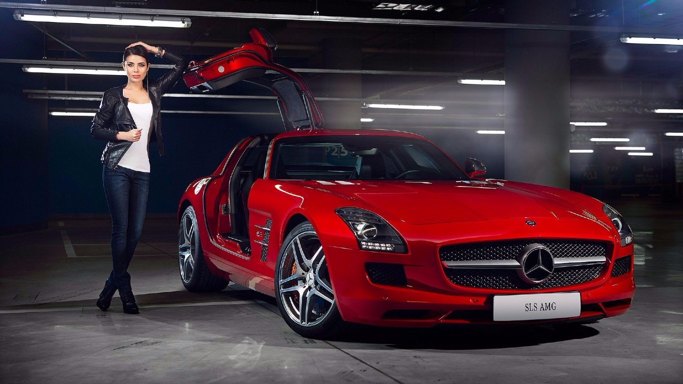 mercedes benz sls amg ridingirls. Cars Review. Best American Auto & Cars Review